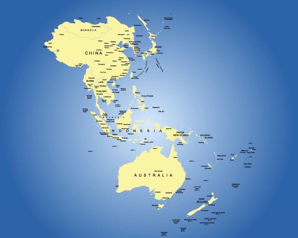 Asia Pacific Region Map
